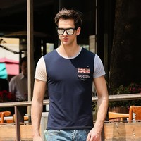 Summer Men's Fashion Korean Short Sleeve Round-neck Stylish Casual Fashion T-shirts [6541340291]
