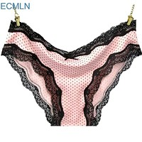 Women Polyester silk And Lace Panties