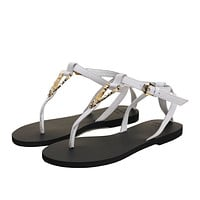 2021 VERSACE Women's Leather Casual Flat Sandal Slippers Shoes