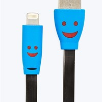 Light Up Smiley Lightning USB Cord