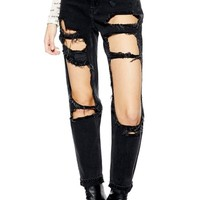 Topshop Moto Window Rip Mom Jeans | Nordstrom