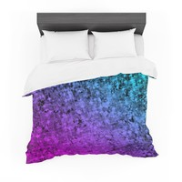 "Ebi Emporium ""Romance Me at Midnight"" Teal Blue Featherweight Duvet Cover"