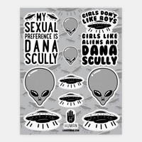 x-files and UFO Stickers
