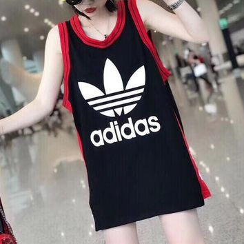 Adidas Fashion Casual Cool Vest Tank Top Cami Tunic Shirt Top Blouse