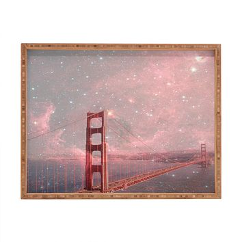 Bianca Green Stardust Covering San Francisco Rectangular Tray