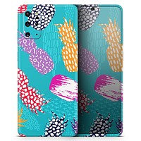 Retro Summer Pineapple v1 - Skin-Kit for the Samsung Galaxy S-Series S20, S20 Plus, S20 Ultra , S10 & others (All Galaxy Devices Available)