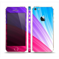 The Radiant Color-Swirls Skin Set for the Apple iPhone 5s