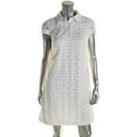 Betsey Johnson Womens Lace Collar Party Dress