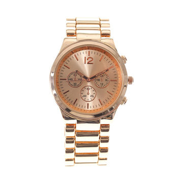 Rose Gold Boyfriend Watch