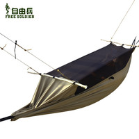 camping hiking outdoor survivor multi-function portable mosquitoe hammock wear-resisting tensile tent for person 180-195 height