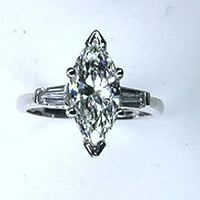 2.37ct G-VS2 Marquise Diamond Engagement Ring Platinum  Anniversary Birthday Bridal GIA certified
