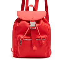 Drawstring Flap Top Backpack