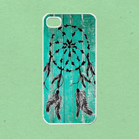 Dream catcher wood painting for iphone 4 case , iphone 4s case, iphone 5 case , samsung galaxy s3 case, ipod touch 4 case
