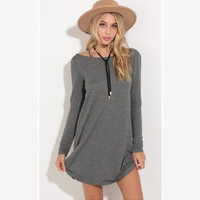 Winter Long Sleeve One Piece Dress [6446618500]