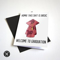 Congratulations Basic Graduation Card - Hip Hop Rap Graduation Card