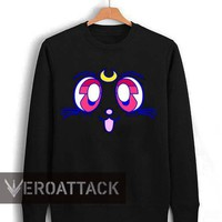 luna cute face sailor moon Unisex Sweatshirts
