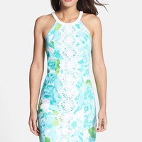 Women's Lilly Pulitzer 'Pearl' Lace Applique Print Shift Dress