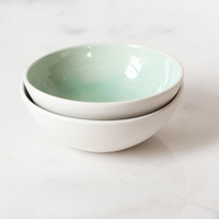 Small Bowl in Mint (set of two) – Suite One Studio
