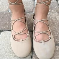 Twist Of Fate Flats - Nude