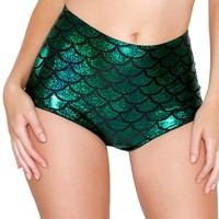 Scale High-Waist Mermaid Short