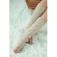 Cable Knit Leg Warmers - Assorted Colors