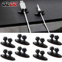 8 PCS/LOT Multifunctional Adhesive Car Charger Line Clasp Clamp Headphone/USB Cable Car Clip Auto Interior Accessories