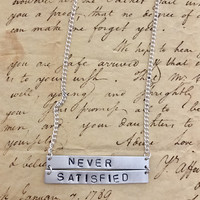 Hamilton Broadway Satisfied Lyrics Double Bar Necklace