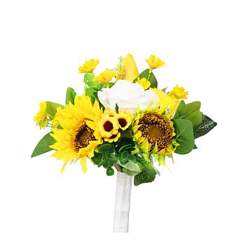 """7"""" Hand Tied Yellow Sunflower Bouquet - Perfect for Summer Events"""