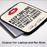 Marylin Monroe Quote Sleeve for Laptop, Macbook Pro, Macbook Air (Twin Sides)