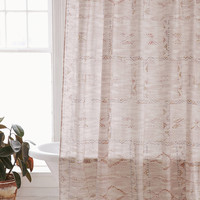 Sanna Printed Stitch Shower Curtain | Urban Outfitters