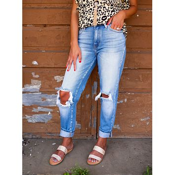 Whitney High Rise Mom Kan Can Jeans
