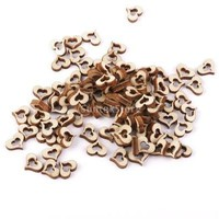 3mm Wooden Blank Hollow Heart Embellishments DIY Crafts 10mm 100pcs [7983584007]