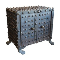 Pre-owned Antique Two Door Industrial Hobnail Safe