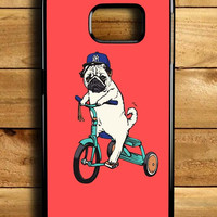 Funny Pug Riding Samsung Galaxy S6 Edge Case