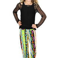 Lori & Jane Multicolor Tribal Palazzo Pants | Mod Angel