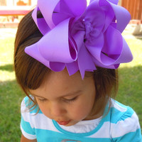 """EXTRA LARGE 6""""  Double Layered  Boutique Hair Bow made with Yards and Yards of Grosgrain Ribbon. CHOOSE Your Color(s)"""