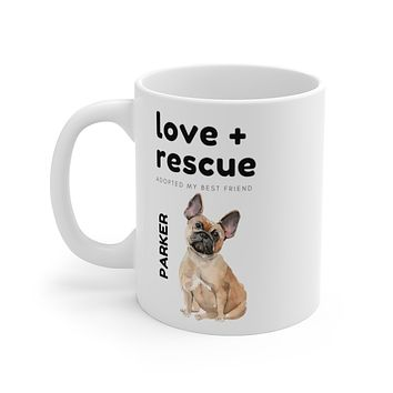 love + rescue Mug — Frenchie
