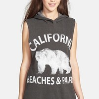 Project Social T 'Cali Beaches' Sleeveless Hoodie (Juniors) | Nordstrom