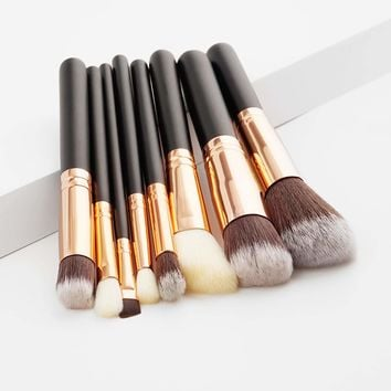 Soft Bristle Makeup Brush Set 8pcs