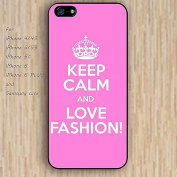 iPhone 5s 6 case keep calm hot pink case phone case iphone case,ipod case,samsung galaxy case available plastic rubber case waterproof B280