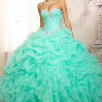 Free Shipping Quinceanera Formal Prom Party Ball Gown Wedding Dress Custom 2-28