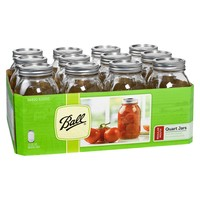 Ball® 1 Quart (32 oz.) Regular Mouth Canning Jar - Set of 12