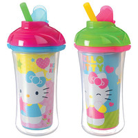 Hello Kitty Click Lock Insulated Straw Cup by Munchkin 9 ounce - 2 Pack