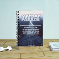 Mayday Parade Lyrics Photo Notebook Auroid