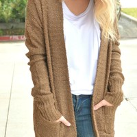 What You Need Cardigan - Brown