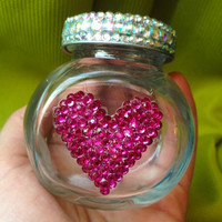 Mini Heart & Crystal Stash Jar