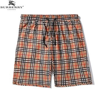BURBERRY Summer Popular Men Women Casual Classic Plaid Sports Beach Shorts
