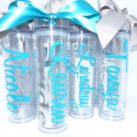 Wedding Tumblers - Bride, Bridesmaid gifts, Bridal Luncheon, Groom, Groomsmen, wedding day, mother of the bride, mother of the groom