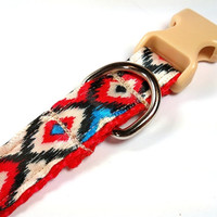 Western Aztec Native Adjustable Dog Collar SMALL