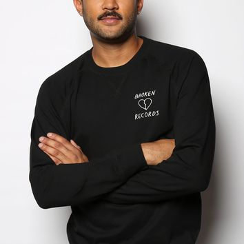Broken Records Unisex Embroidered Terry Pullover